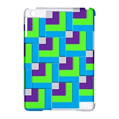 Geometric 3d Mosaic Bold Vibrant Apple Ipad Mini Hardshell Case (compatible With Smart Cover) by Amaryn4rt