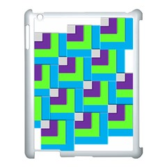 Geometric 3d Mosaic Bold Vibrant Apple Ipad 3/4 Case (white) by Amaryn4rt