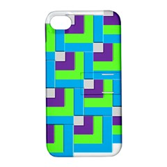 Geometric 3d Mosaic Bold Vibrant Apple Iphone 4/4s Hardshell Case With Stand by Amaryn4rt