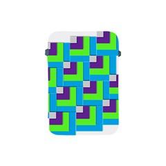 Geometric 3d Mosaic Bold Vibrant Apple Ipad Mini Protective Soft Cases by Amaryn4rt