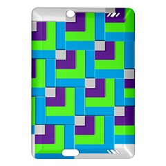 Geometric 3d Mosaic Bold Vibrant Amazon Kindle Fire Hd (2013) Hardshell Case by Amaryn4rt