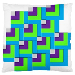 Geometric 3d Mosaic Bold Vibrant Large Flano Cushion Case (two Sides) by Amaryn4rt