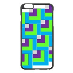 Geometric 3d Mosaic Bold Vibrant Apple Iphone 6 Plus/6s Plus Black Enamel Case by Amaryn4rt