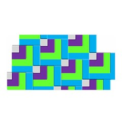 Geometric 3d Mosaic Bold Vibrant Satin Wrap by Amaryn4rt