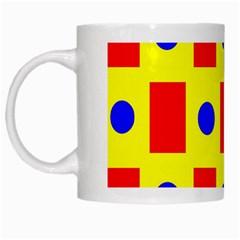 Pattern Design Backdrop White Mugs by Amaryn4rt