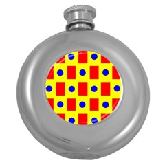 Pattern Design Backdrop Round Hip Flask (5 Oz) by Amaryn4rt