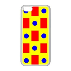 Pattern Design Backdrop Apple Iphone 5c Seamless Case (white) by Amaryn4rt