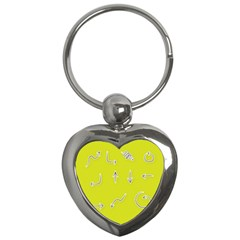 Arrow Line Sign Circle Flat Curve Key Chains (heart)  by Amaryn4rt
