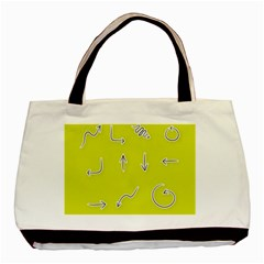 Arrow Line Sign Circle Flat Curve Basic Tote Bag by Amaryn4rt