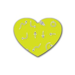 Arrow Line Sign Circle Flat Curve Heart Coaster (4 Pack)  by Amaryn4rt