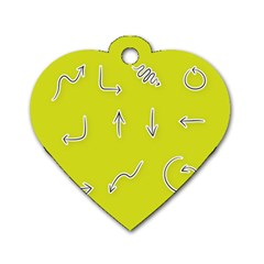 Arrow Line Sign Circle Flat Curve Dog Tag Heart (one Side) by Amaryn4rt