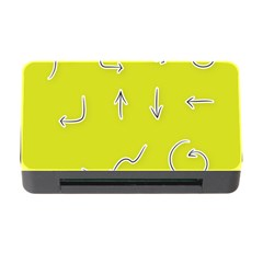 Arrow Line Sign Circle Flat Curve Memory Card Reader With Cf by Amaryn4rt