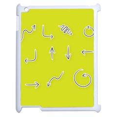 Arrow Line Sign Circle Flat Curve Apple Ipad 2 Case (white) by Amaryn4rt