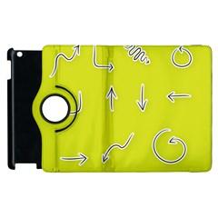 Arrow Line Sign Circle Flat Curve Apple Ipad 2 Flip 360 Case by Amaryn4rt