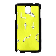 Arrow Line Sign Circle Flat Curve Samsung Galaxy Note 3 Neo Hardshell Case (black) by Amaryn4rt