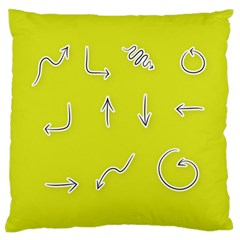 Arrow Line Sign Circle Flat Curve Large Flano Cushion Case (one Side) by Amaryn4rt