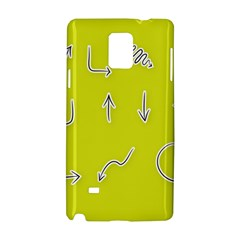Arrow Line Sign Circle Flat Curve Samsung Galaxy Note 4 Hardshell Case by Amaryn4rt