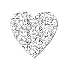 Pattern Heart Magnet by Valentinaart