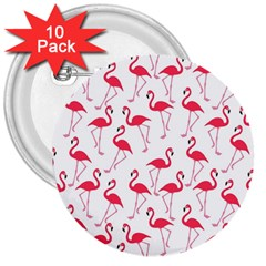 Flamingo Pattern 3  Buttons (10 Pack)  by Valentinaart