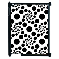 Dot Dots Round Black And White Apple Ipad 2 Case (black) by Amaryn4rt
