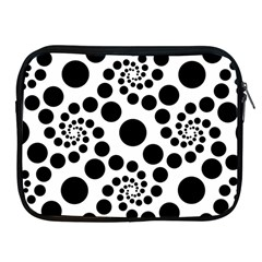 Dot Dots Round Black And White Apple Ipad 2/3/4 Zipper Cases by Amaryn4rt