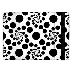 Dot Dots Round Black And White Samsung Galaxy Tab Pro 12 2  Flip Case by Amaryn4rt