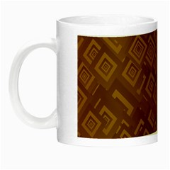 Brown Pattern Rectangle Wallpaper Night Luminous Mugs by Amaryn4rt