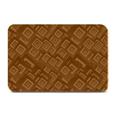 Brown Pattern Rectangle Wallpaper Plate Mats by Amaryn4rt