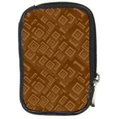 Brown Pattern Rectangle Wallpaper Compact Camera Cases by Amaryn4rt