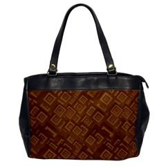 Brown Pattern Rectangle Wallpaper Office Handbags by Amaryn4rt