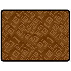 Brown Pattern Rectangle Wallpaper Fleece Blanket (large)  by Amaryn4rt