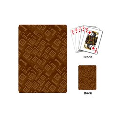 Brown Pattern Rectangle Wallpaper Playing Cards (mini)  by Amaryn4rt