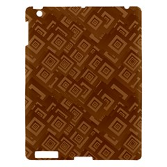 Brown Pattern Rectangle Wallpaper Apple Ipad 3/4 Hardshell Case by Amaryn4rt