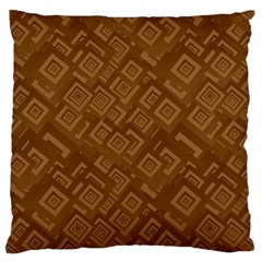 Brown Pattern Rectangle Wallpaper Large Cushion Case (two Sides) by Amaryn4rt