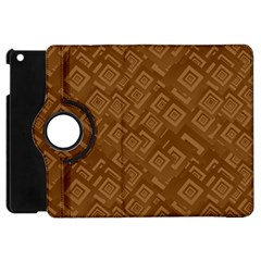Brown Pattern Rectangle Wallpaper Apple Ipad Mini Flip 360 Case