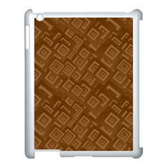 Brown Pattern Rectangle Wallpaper Apple Ipad 3/4 Case (white) by Amaryn4rt