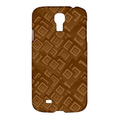 Brown Pattern Rectangle Wallpaper Samsung Galaxy S4 I9500/i9505 Hardshell Case