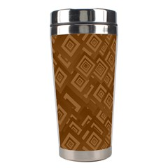 Brown Pattern Rectangle Wallpaper Stainless Steel Travel Tumblers