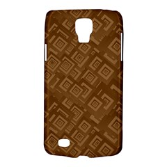 Brown Pattern Rectangle Wallpaper Galaxy S4 Active by Amaryn4rt