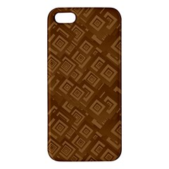 Brown Pattern Rectangle Wallpaper Iphone 5s/ Se Premium Hardshell Case by Amaryn4rt