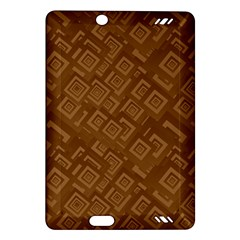 Brown Pattern Rectangle Wallpaper Amazon Kindle Fire Hd (2013) Hardshell Case by Amaryn4rt