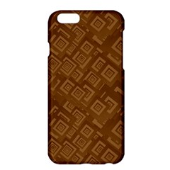 Brown Pattern Rectangle Wallpaper Apple iPhone 6 Plus/6S Plus Hardshell Case