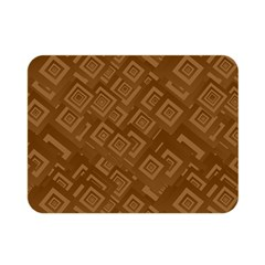 Brown Pattern Rectangle Wallpaper Double Sided Flano Blanket (mini)