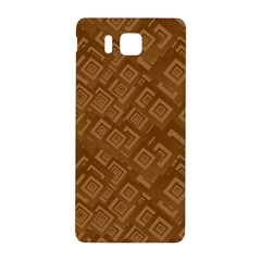 Brown Pattern Rectangle Wallpaper Samsung Galaxy Alpha Hardshell Back Case by Amaryn4rt