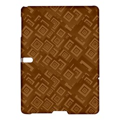 Brown Pattern Rectangle Wallpaper Samsung Galaxy Tab S (10 5 ) Hardshell Case  by Amaryn4rt