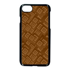 Brown Pattern Rectangle Wallpaper Apple Iphone 7 Seamless Case (black) by Amaryn4rt