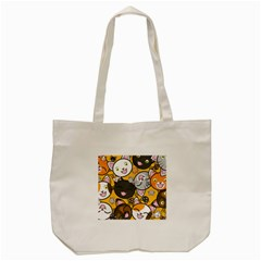 Cats Pattern Tote Bag (cream) by Valentinaart