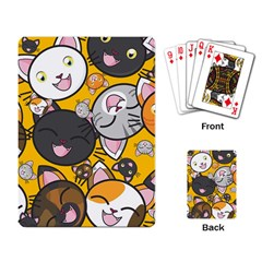 Cats Pattern Playing Card by Valentinaart