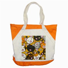 Cats Pattern Accent Tote Bag by Valentinaart