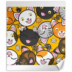 Cats Pattern Canvas 20  X 24